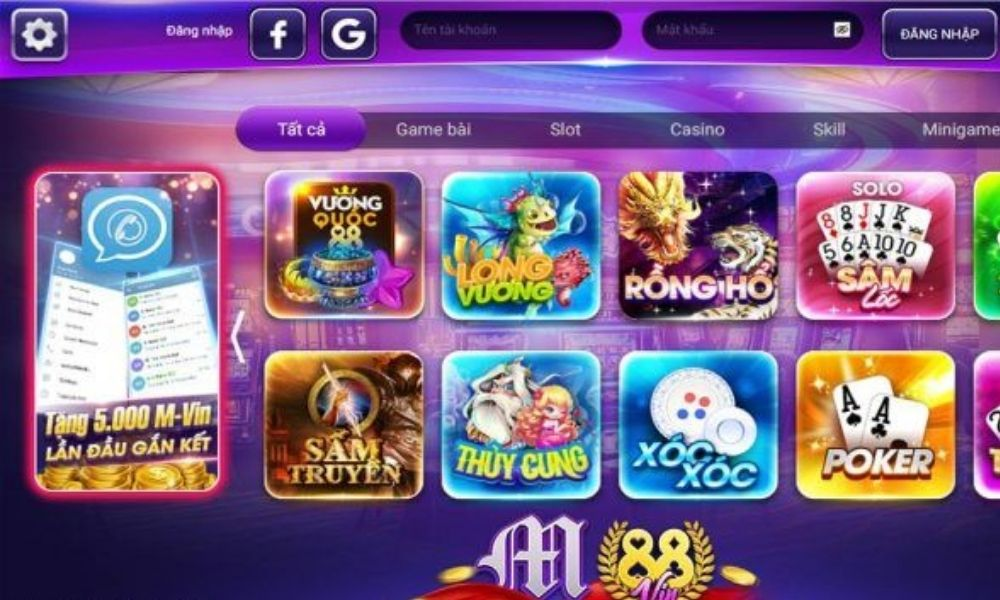 Các game slot hấp dẫn tại M88