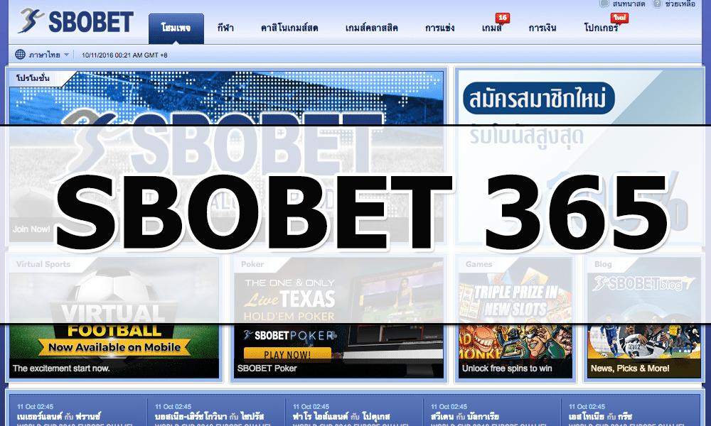 Giới thiệu trang cá cược SBOBET 365