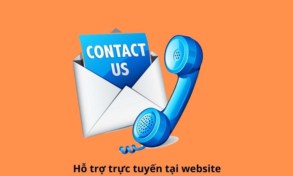 Hỗ trợ trực tuyến tại website
