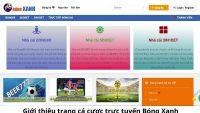 Trang mạng bongxanh.net – Nhà cái đặt cược thể thao dễ thắng nhất hiện nay